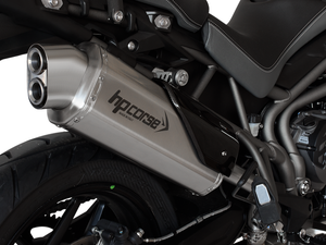 "HP CORSE Triumph Tiger 800 Slip-on Exhaust ""4-Track R Satin"" (EU homologated)"
