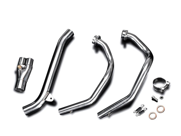 "DELKEVIC Honda CRF1000L Africa Twin (16/19) Full 2-1 Exhaust System with 13.5"" Titanium X-Oval Silencer"