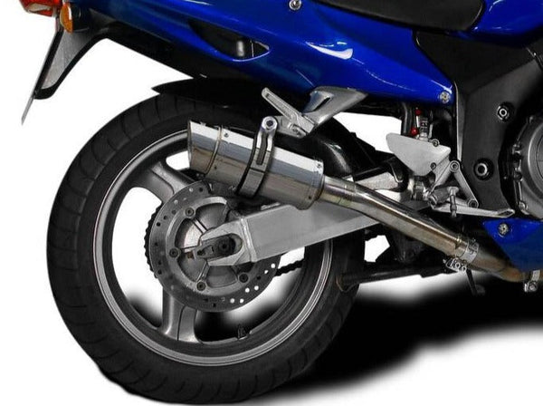"DELKEVIC Honda CBR1100XX Blackbird Full Exhaust System with Mini 8"" Silencers"