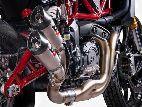 "QD EXHAUST Indian FTR 1200 Dual Slip-on Exhaust ""Gunshot"" (EU homologated)"
