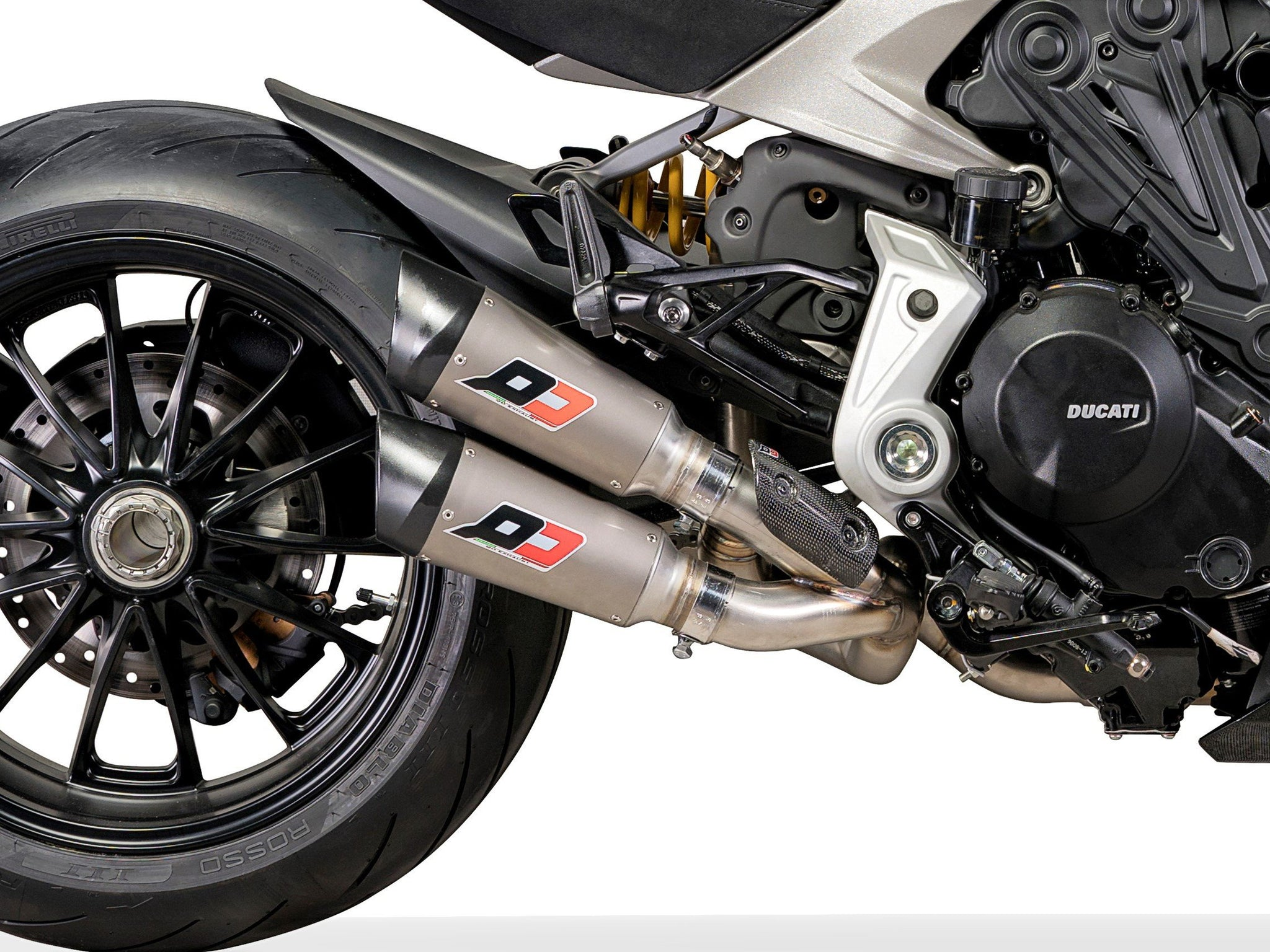 "QD EXHAUST Ducati Diavel 1260 Semi-Full Dual Exhaust System ""Twin Gunshot"" (Euro4 homologated)"