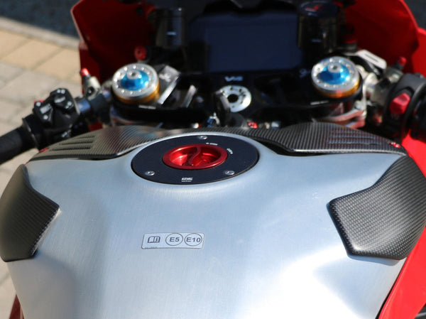 ZP112 - CNC RACING Ducati Panigale V4 Carbon Fuel Tank Sliders