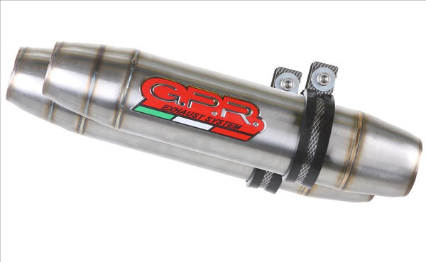 "GPR Ducati Superbike 1098/1198 Dual Slip-on Exhaust ""Deeptone Inox"" (EU homologated)"