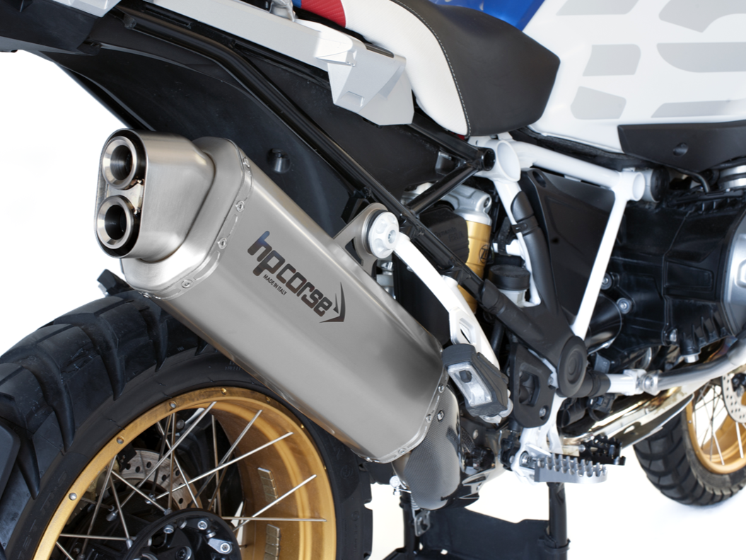 "HP CORSE BMW R1250GS Slip-on Exhaust ""4-Track R Satin"" (EU homologated)"