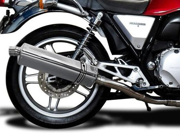 "DELKEVIC Honda CB1100 Full Exhaust System with Stubby 17"" Tri-Oval Silencer"