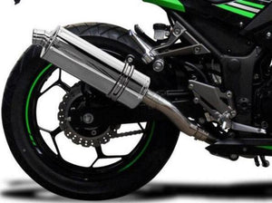 "DELKEVIC Kawasaki Ninja 300 Full Exhaust System with Stubby 14"" Silencer"