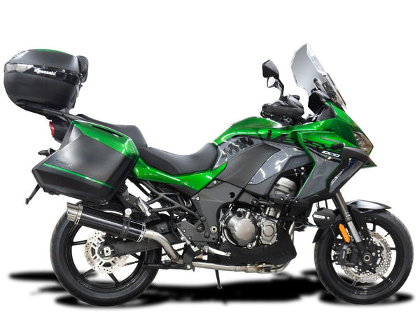 "DELKEVIC Kawasaki Versys 1000 Full Exhaust System with DL10 14"" Carbon Silencer"