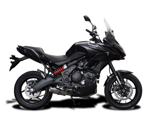 "DELKEVIC Kawasaki Versys 650 (2015) Full Exhaust System with Mini 8"" Silencer"