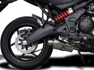 "DELKEVIC Kawasaki Versys 650 (2015) Full Exhaust System with SS70 9"" Silencer"