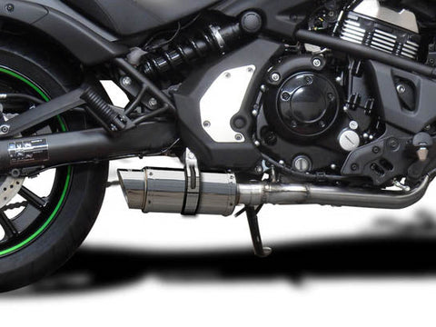 "DELKEVIC Kawasaki Vulcan S EN650 (15/20) Full Exhaust System with Mini 8"" Silencer"