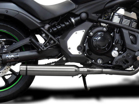 "DELKEVIC Kawasaki Vulcan S EN650 (15/20) Full Exhaust System with Bull Nose Tip 16"" Silencer"