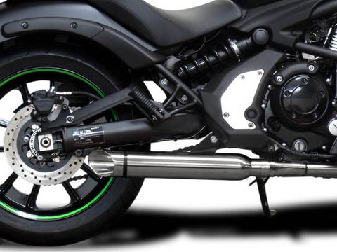 "DELKEVIC Kawasaki Vulcan S EN650 (15/20) Full Exhaust System with Slash Cut Tip 16"" Silencer"
