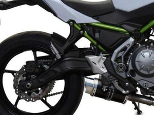 "DELKEVIC Kawasaki Z650 Full Exhaust System with Mini 8"" Carbon Silencer"