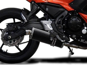 "DELKEVIC Kawasaki Ninja 650 (17/20) Full Exhaust System with Stubby 14"" Carbon Silencer"
