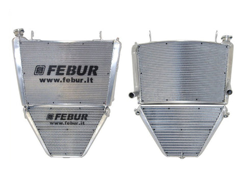 FEBUR Yamaha YZF-R1 (2015) Complete Racing Water and Oil Radiator (With silicon hoses)