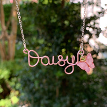 Load image into Gallery viewer, Custom Butterfly Name Necklace - Rose Gold