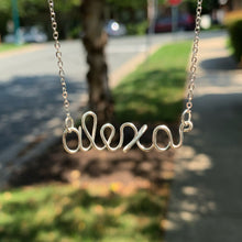 Load image into Gallery viewer, Custom Name Necklace - Silver