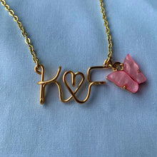Load image into Gallery viewer, Couples/BFFs Initials Necklace - Gold