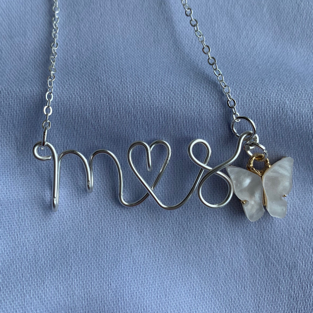 Couples/BFFs Initial Necklace - Silver