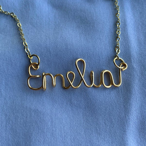 Custom Name Necklace - Gold
