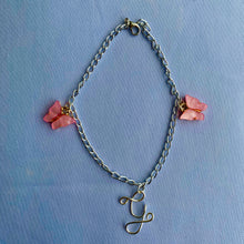 Load image into Gallery viewer, Custom Initial Butterfly Anklet