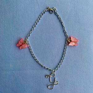 Custom Initial Butterfly Anklet