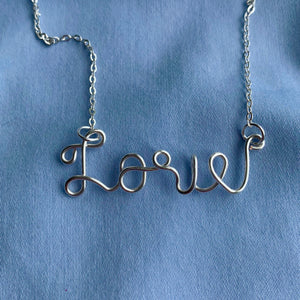 Custom Name Necklace - Silver