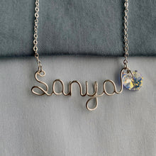 Load image into Gallery viewer, Custom Swarovski Name Necklace - Silver