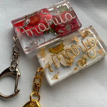 Load image into Gallery viewer, Custom Floral Name Keychain