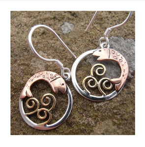 Salmon of knowledge earrings from Banshee Silver