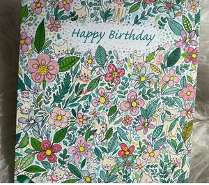 Hiding Cats Happy birthday card