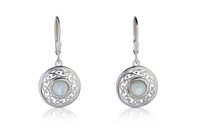 Arian Celtic Knot Mother of Pearl Earrings