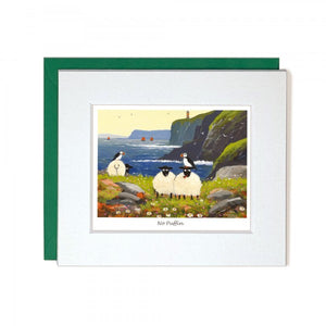 No Puffin Mini Greeting Card