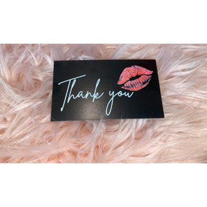 Black thank you cards- customizable