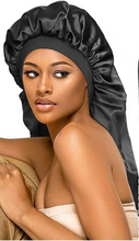 Load image into Gallery viewer, Extra Long Satin Hair Bonnet