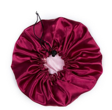 Load image into Gallery viewer, Double Layered Satin Bonnet with Adjustable Drawstring