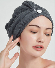 Load image into Gallery viewer, Hair Drying Towel Turban Wrap