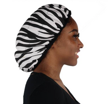 "Load image into Gallery viewer, ""Zebra Print"" Thermal Heat Cap"