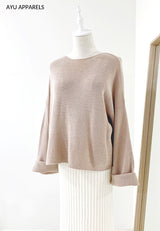 Eun Ae Korean Knitted Blouse Nude