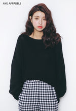 Korean Knitted Sweater Black