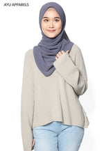 Korean Knitted Sweater Cream