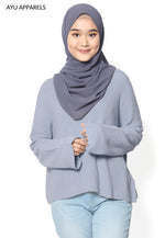 Korean Knitted Sweater Dusty Blue