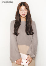 Korean Knitted Sweater Mocha