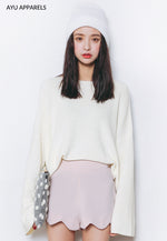 Korean Knitted Sweater Ivory