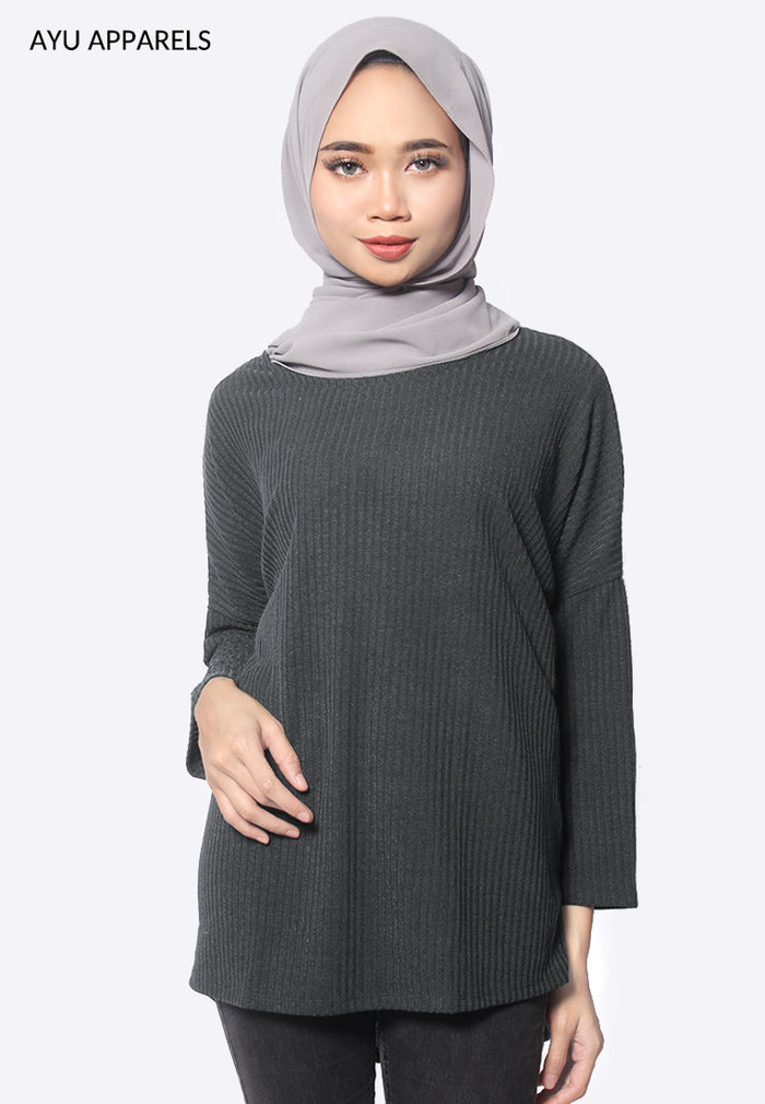 Dylan Oversized Blouse Graphite