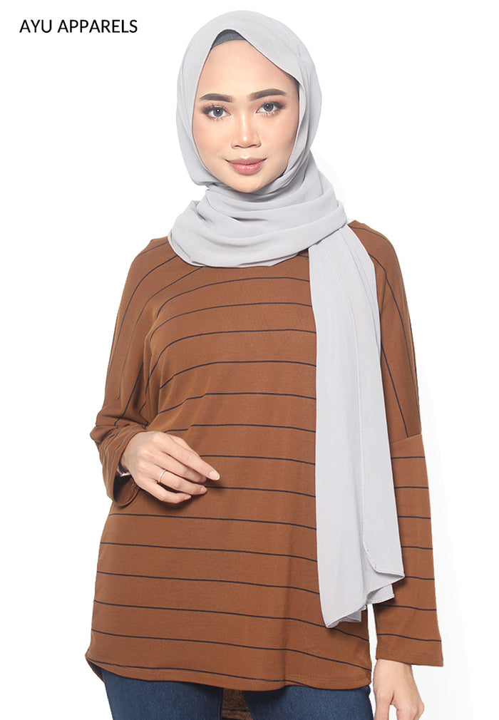 Tabby Oversized Blouse Brown