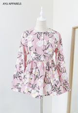 Doll Blouse Hibiscus Pink