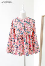 Doll Blouse Little Floral Pink