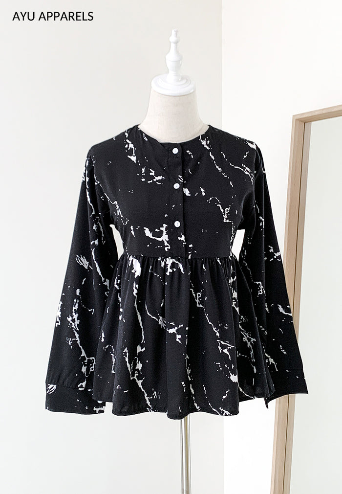 Doll Blouse Marble Black