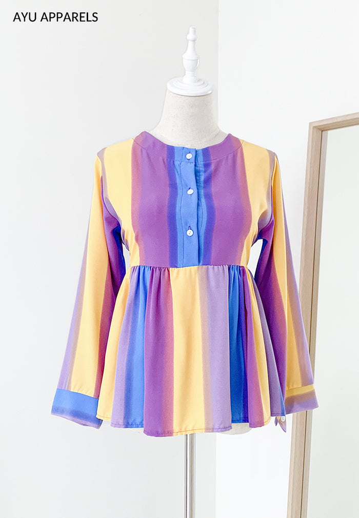 Doll Blouse Rainbow Purple Hue